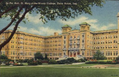 St. Mary of the Woods College - Terre Haute, Indiana IN Postcard