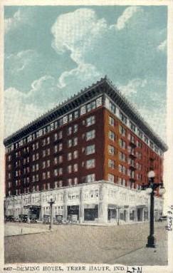 Demming Hotel  - Terre Haute, Indiana IN Postcard