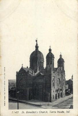 St. Benedict's Church - Terre Haute, Indiana IN Postcard