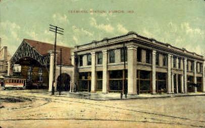 Terminal Station - Muncie, Indiana IN Postcard