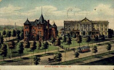 Normal College - Marion, Indiana IN Postcard