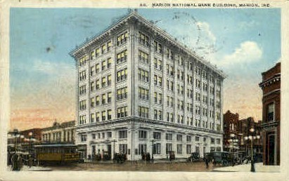 Marion National Bank - Indiana IN Postcard