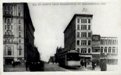 Illinois Street  - Indianapolis Postcards, Indiana IN Postcard