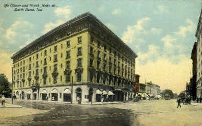 The Oliver & North Main Street - South Bend, Indiana IN Postcard