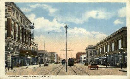 Broadway  - Gary, Indiana IN Postcard