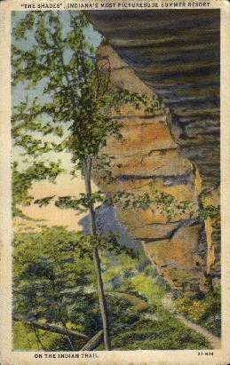 The Shades - Misc, Indiana IN Postcard