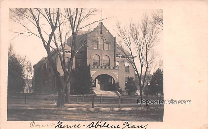 Court House - Abilene, Kansas KS Postcard