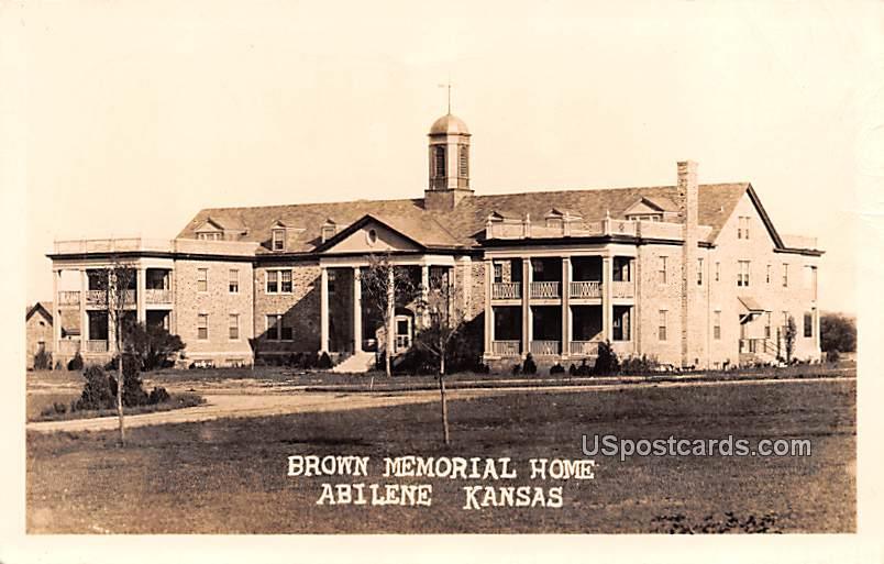 Brown Memorial Home - Abilene, Kansas KS Postcard