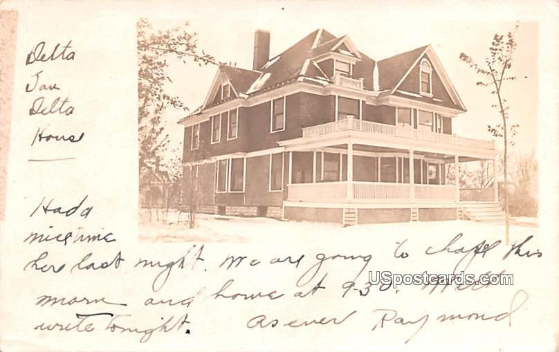 Delta Jan Delta House - Baldwin, Kansas KS Postcard