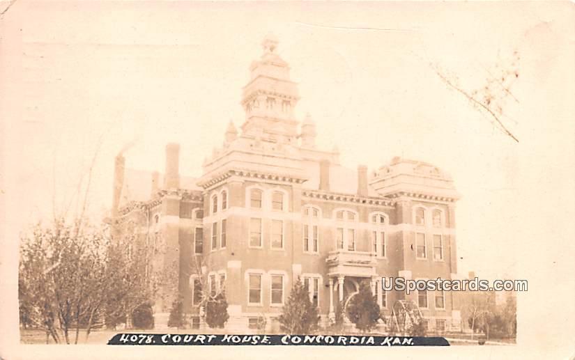 Court House - Concordia, Kansas KS Postcard