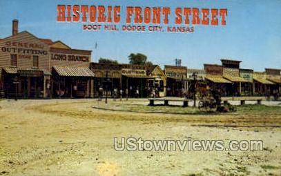Boot Hill Museum - Dodge City, Kansas KS Postcard