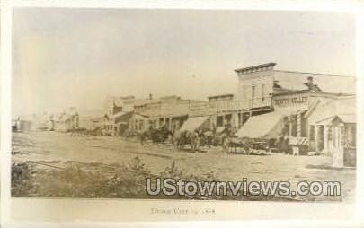 View in 1878 - Dodge City, Kansas KS Postcard