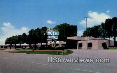Royal Motel - Dodge City, Kansas KS Postcard