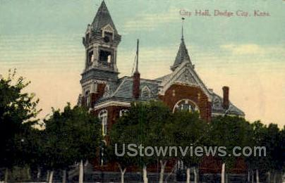 City Hall - Dodge City, Kansas KS Postcard