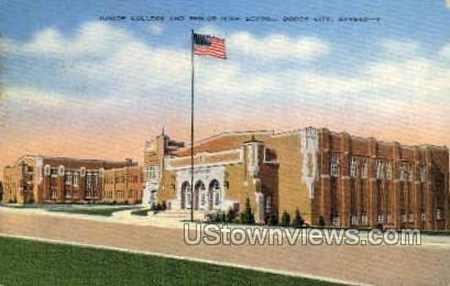 Junior College - Dodge City, Kansas KS Postcard