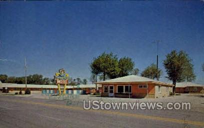 Thunderbird Motel - Dodge City, Kansas KS Postcard