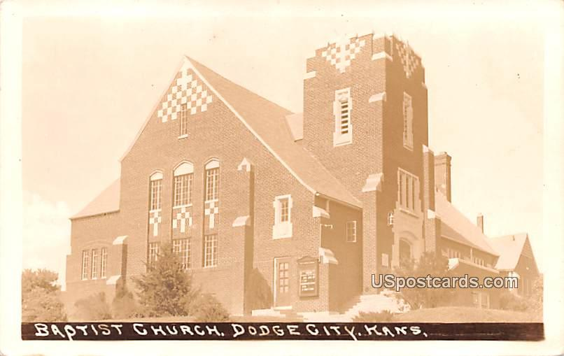 Baptist Church - Dodge City, Kansas KS Postcard