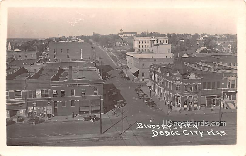 Birds Eye View - Dodge City, Kansas KS Postcard