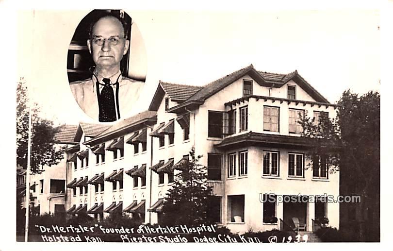 Dr Hertzler Founder of Hertzler Hospital - Dodge City, Kansas KS Postcard