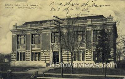 State Normal Library - Emporia, Kansas KS Postcard