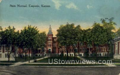 State Normal - Emporia, Kansas KS Postcard