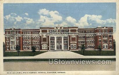 State Normal School - Emporia, Kansas KS Postcard