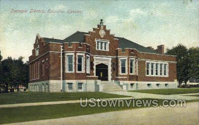 Carnegie Library - Emporia, Kansas KS Postcard