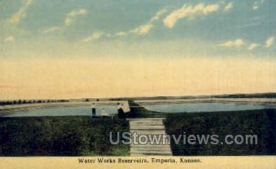 Water Works Reservoirs - Emporia, Kansas KS Postcard