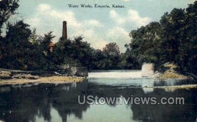 Water Works - Emporia, Kansas KS Postcard