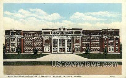 KS State Teachers College - Emporia, Kansas KS Postcard