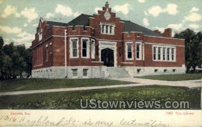 City Building - Emporia, Kansas KS Postcard