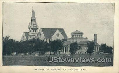 College of Emporia - Kansas KS Postcard