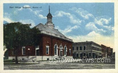 Post Office - Emporia, Kansas KS Postcard