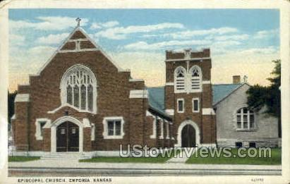 Episcopal Church - Emporia, Kansas KS Postcard