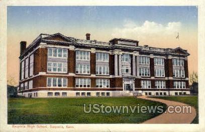 Emporia High School - Kansas KS Postcard