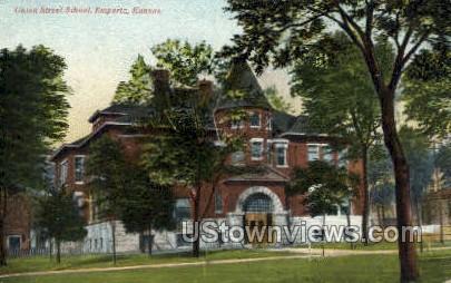Union Street School - Emporia, Kansas KS Postcard