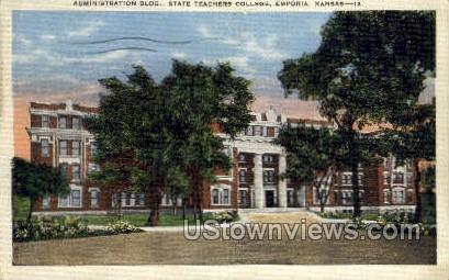 State Teachers College - Emporia, Kansas KS Postcard