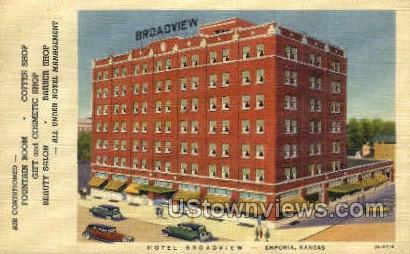 Hotel Broadview - Emporia, Kansas KS Postcard