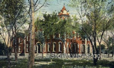 Garfield School - Emporia, Kansas KS Postcard