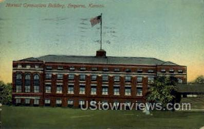 Normal Gymnasium Building - Emporia, Kansas KS Postcard