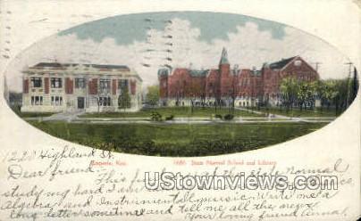 State Normal School and Library - Emporia, Kansas KS Postcard