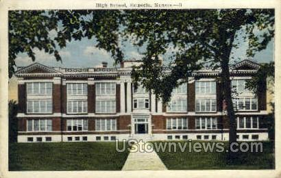 High School - Emporia, Kansas KS Postcard