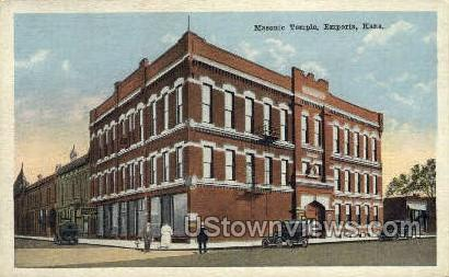 Masonic Temple - Emporia, Kansas KS Postcard