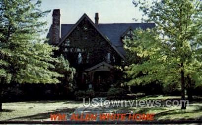 WM. Allen White Home - Emporia, Kansas KS Postcard