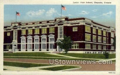 Junior High School - Emporia, Kansas KS Postcard