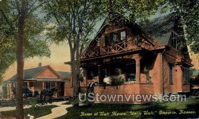 Home of Walt Mason - Emporia, Kansas KS Postcard