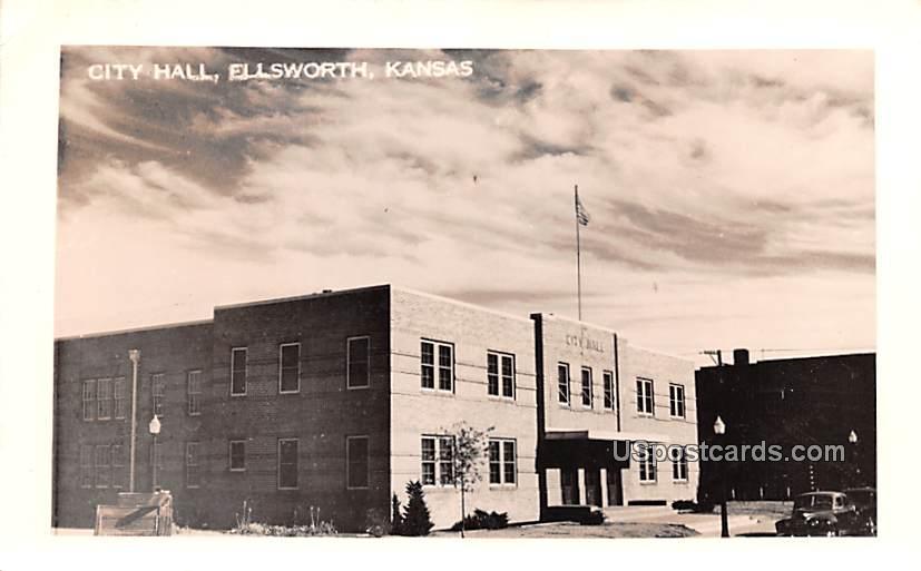 City Hall - Ellsworth, Kansas KS Postcard