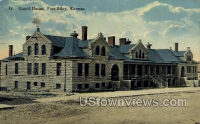 Guard House - Fort Riley, Kansas KS Postcard