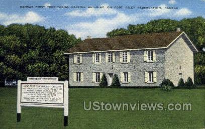First Territorial Capitol - Fort Riley, Kansas KS Postcard