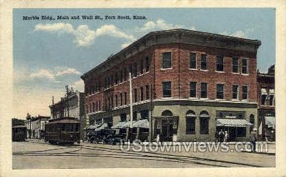 Marble Bldg - Fort Scott, Kansas KS Postcard